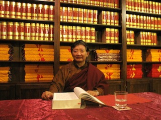 Complete Tibetan Buddhist Canon Enshrined on the new bookshelves at Virupa Retreat Centre