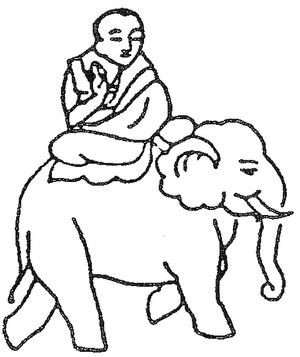 Buddha on elephant